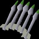 Silver bolts (p) detail