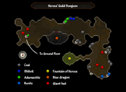 Heroes' Guild dungeon map