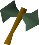 Adamant thrownaxe detail