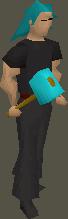Cursed goblin hammer equipped