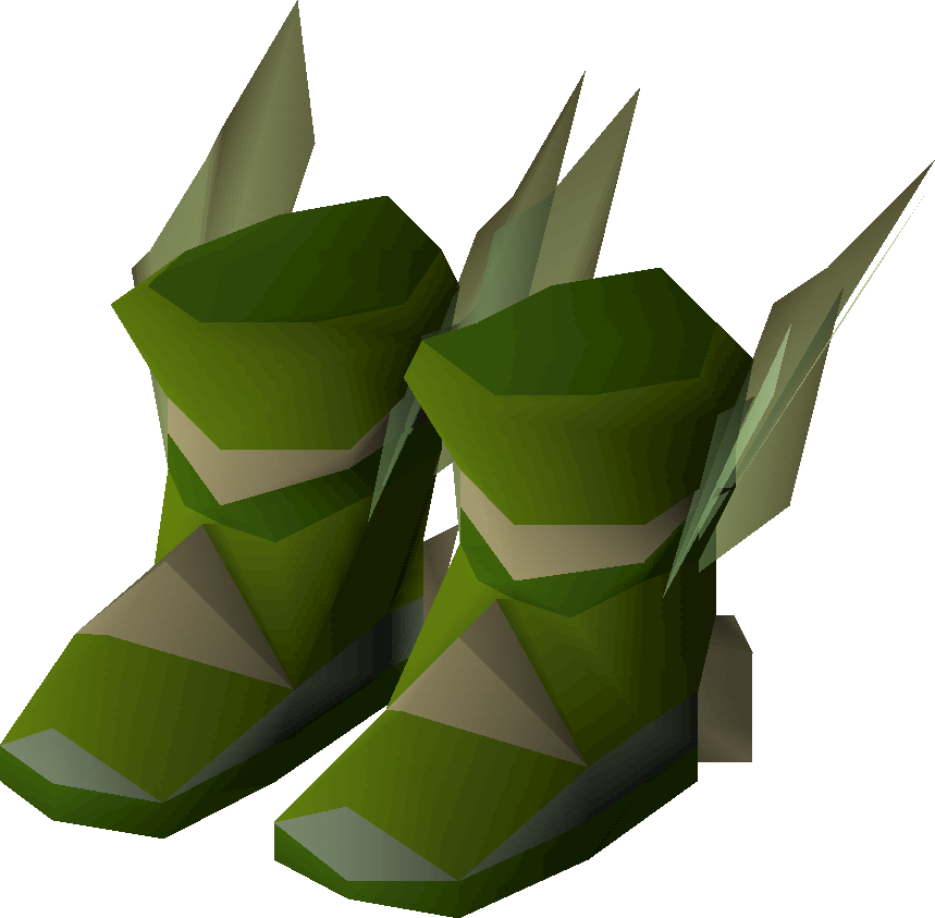 Elf Style Boots Green Detail