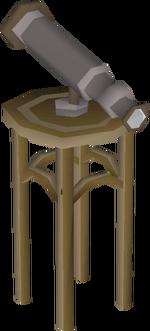Teak telescope built