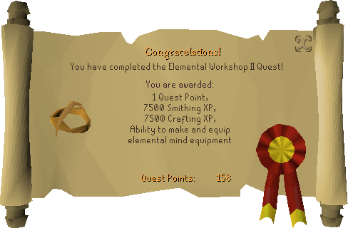 Elemental Workshop II reward scroll