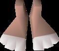 Bunny feet detail