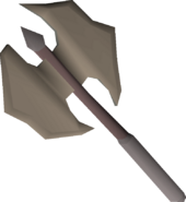 Dwarven battleaxe (rusty) detail