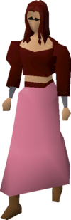 Pink skirt equipped