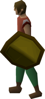 Yew shield equipped