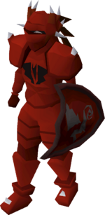 Dragon armour set (lg) equipped