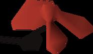 Bandana eyepatch (red) detail