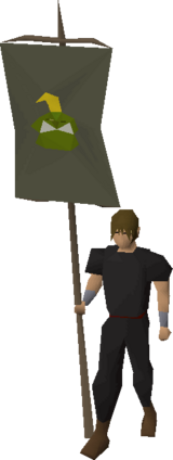 Banner (Jogre) equipped