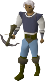 Iron crossbow equipped