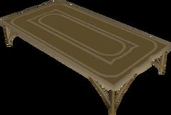 Carved teak table built