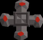 Gilded cross detail