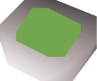 Jade amulet (u) detail