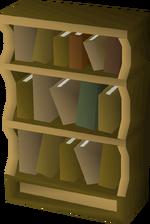 Wooden bookcase built