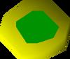Emerald amulet (u) detail