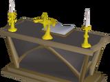 Teak altar