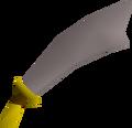Steel scimitar detail