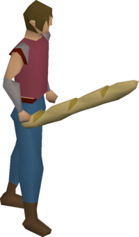 Stale baguette equipped