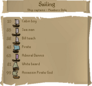 Sailing skill guide ship captains