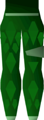 Green d'hide chaps (t) detail