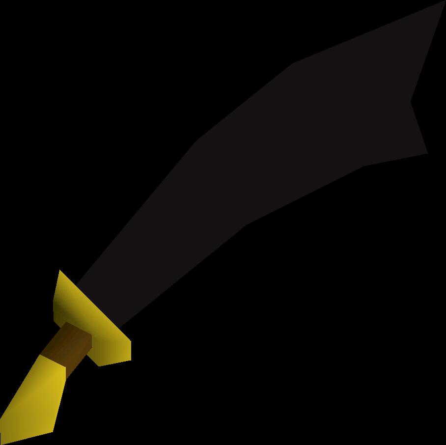 Black scimitar detail