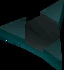 Obsidian amulet detail
