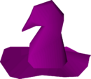 Purple hat detail