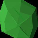 Uncut emerald detail
