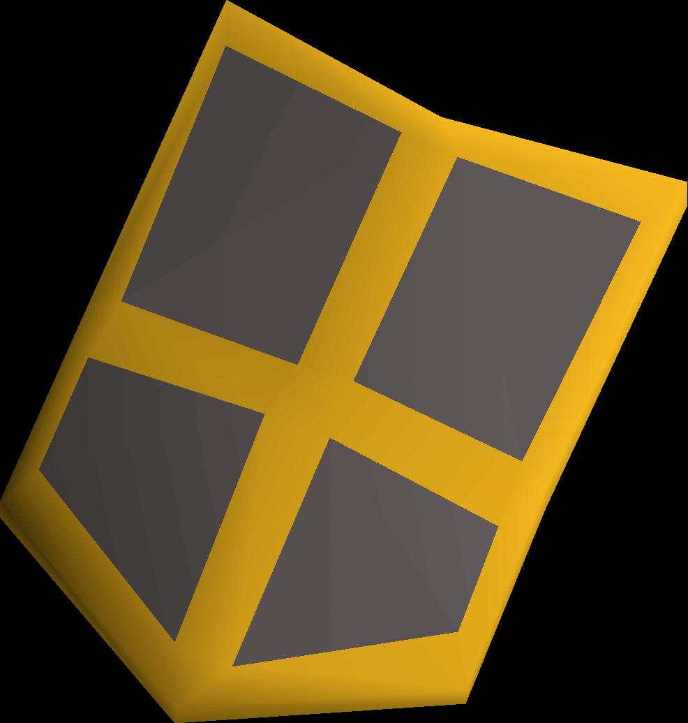 Iron kiteshield (g) detail