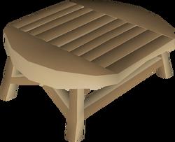 Oak kitchen table built