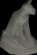 Stone statuette detail