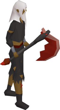 Infernal axe equipped