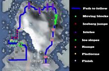 Penguin agility course map