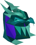 Tanzanite helm (uncharged) detail