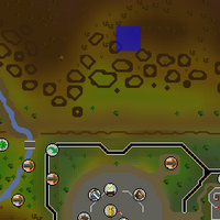 Hot cold clue - north of GE map