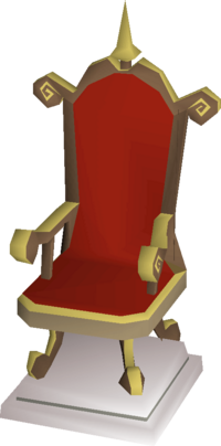 Gilded throne built