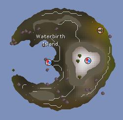 Waterbirth Island map