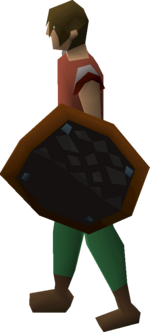 Black d'hide shield equipped