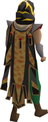 Fire max cape equipped