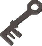 Iron key detail