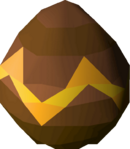 Small chocolate egg detail
