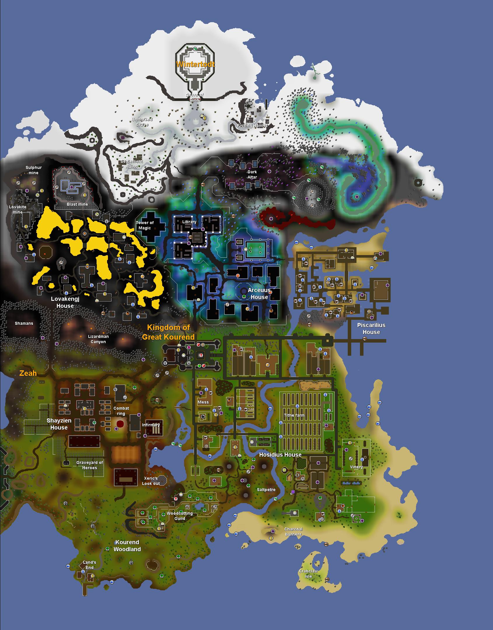Image - Great Kourend map.png | Old School RuneScape Wiki | FANDOM ...