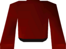 Red robe top detail