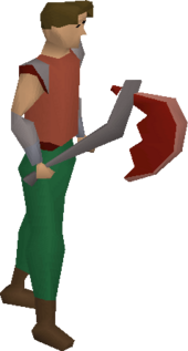 Dragon axe equipped