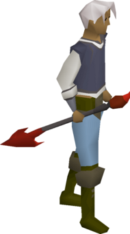 Infernal harpoon equipped