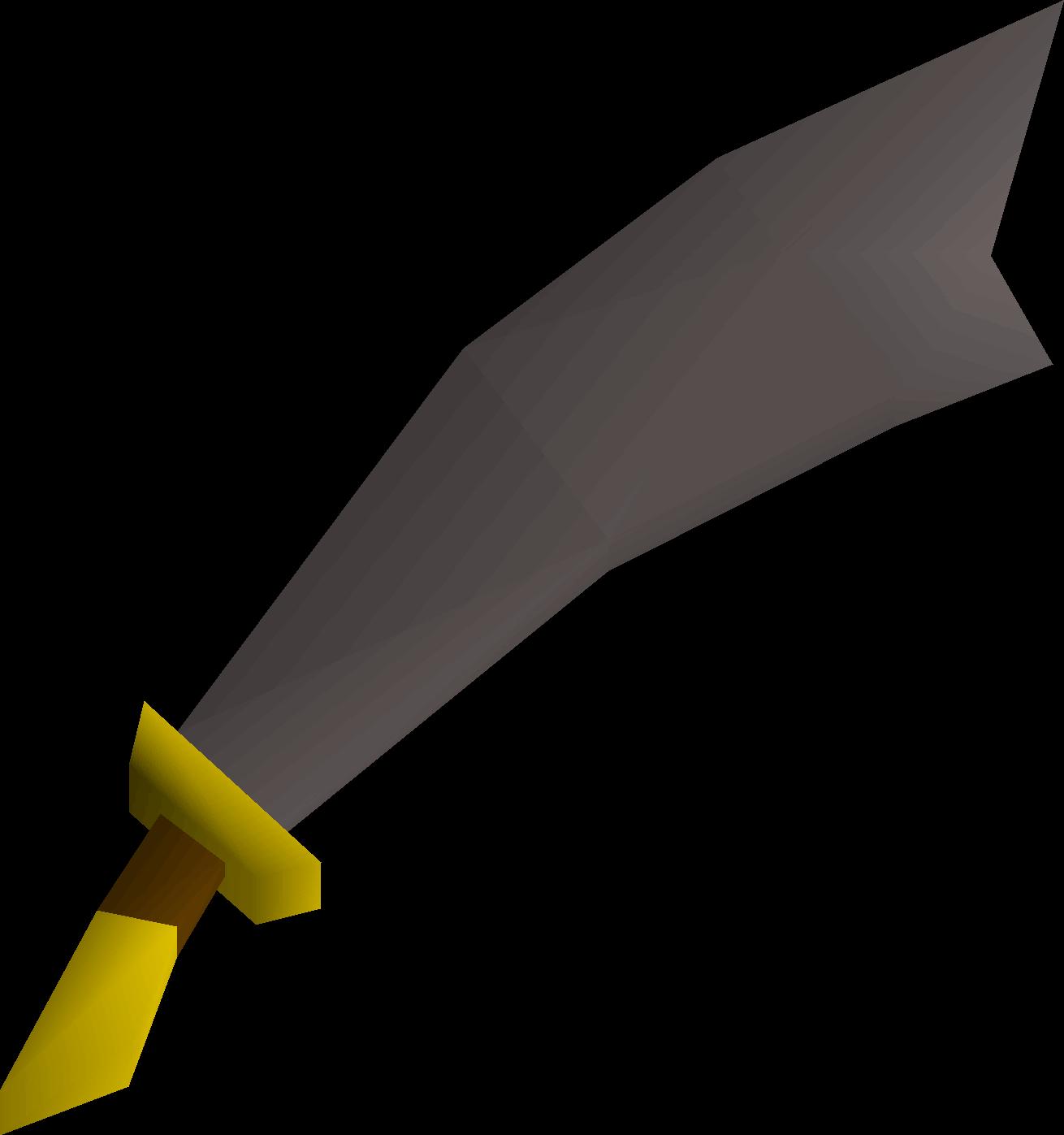 Iron scimitar detail