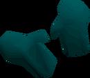 Teal gloves detail