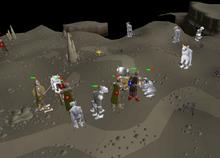 The Fremennik Isles honour guard and trolls