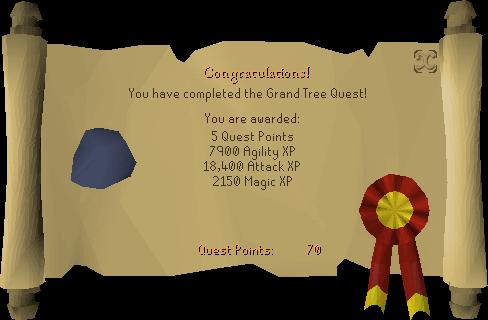 The Grand Tree reward scroll